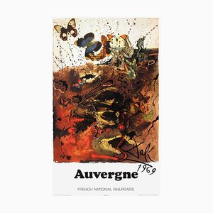 SNCF French National Railroads Auvergne Poster by Salvador Dali