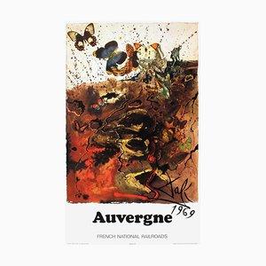 SNCF French National Railroads Auvergne Poster von Salvador Dali