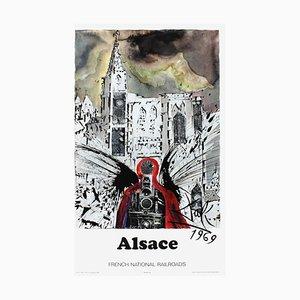 Affiche de Chemins de Fer d'Alsace par SNCF Dali