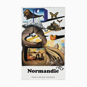 SNCF French National Railroads Normandie Poster by Salvador Dali