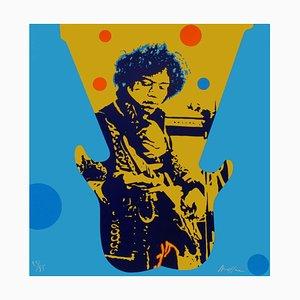 My Generation - Jimi Hendrix Siebdruck von Ivan Messac