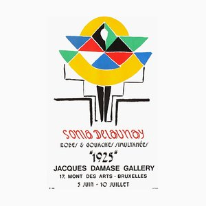 Expo 75, Damase Gallery Bruxelles Poster by Sonia Delaunay