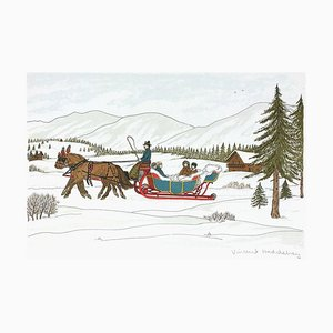 Horses and Men, The Swiss Sled by Vincent Haddelsey