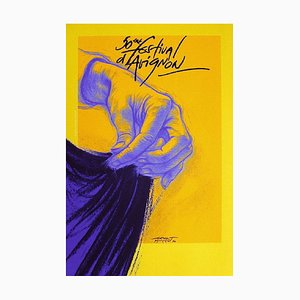Affiche Festival d'Avignon In 1996 par Ernest Pignon, ernest