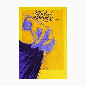 Festival d'Avignon In 1996 Poster by Ernest Pignon,ernest