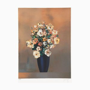 Bouquet Au Vase Noir par Franz Schlitz