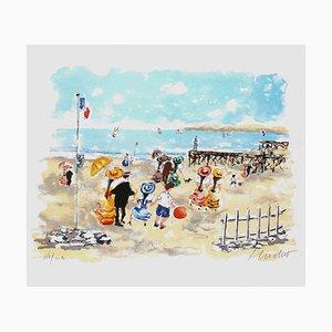 On the Beach by Urbain Huchet