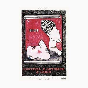 Festival D'automne 1991 Plakat von Jasper Johns