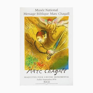 Poster Expo 74, National Biblical Message Museum par Marc Chagall