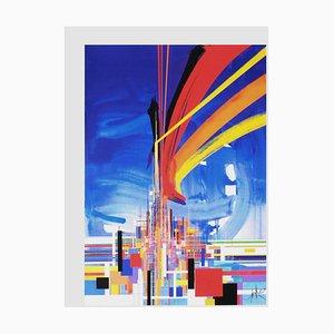Architecture Screenprint by Raymond Moretti
