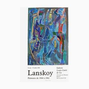 Affiche Expo 90 - Galerie Louis Carré par André Lanskoy