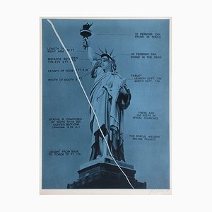 Bicentenaire Kit - USA 76 - 01 (Statue of Liberty NYC) Screenprint by Jacques Monory