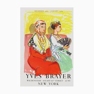 Poster Expo 63 - Les Arlésiennes Aux Robes De Couleur par Yves Brayer