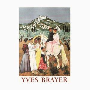 Expo 62 - Arlestier Et Gardians En Provence Plakat von Yves Brayer
