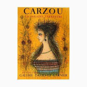 Affiche Expo 59 - Galerie David et Garnier par Jean Carzou