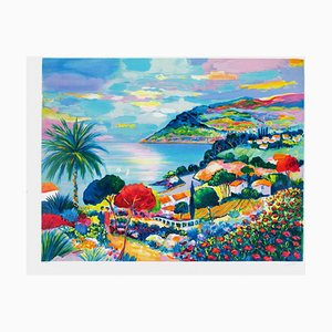 French Riviera, Théoule Bay In Spring by Jean Claude Picot