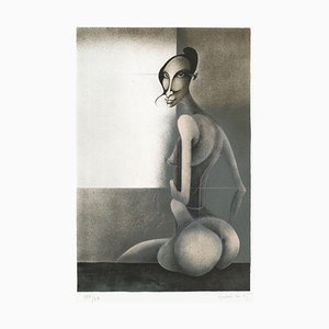 Seated Nude by Frédéric Bouche
