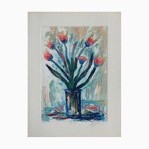 Fleurs, Tulipe Rouge par Jean, Marie Guiny