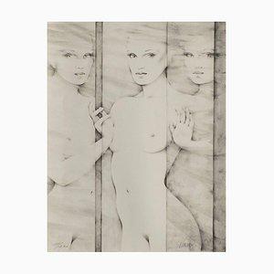 Nude With Spiegel von Gerard Daran