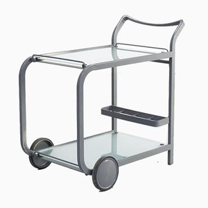 Postmodern Metal & Glass Trolley, 1980s