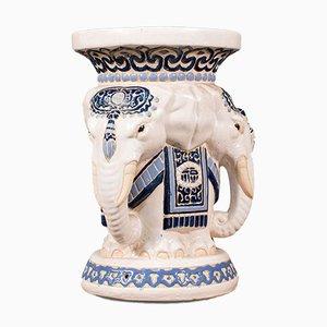 Sgabello da giardino Elefante in ceramica, anni '30