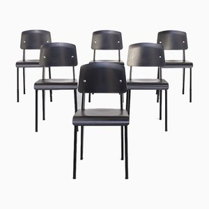 Standard-Sp Dining Chair by Jean Prouvé for Vitra, Set of 6
