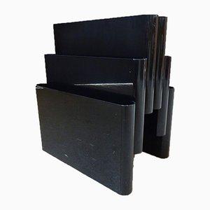 Großer schwarzer Kartell Zeitschriftenständer von Giotto Stoppino