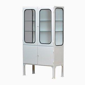 Mueble médico de vidrio y hierro, años 70