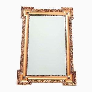 Antique French Napoleon Wall Golden Mirror, 1860