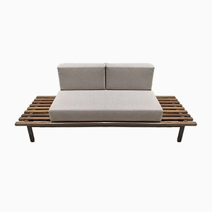 Cansado Bench with Cushions by Charlotte Perriand for Steph Simon
