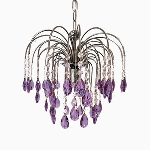 Lilac Crystal Chandelier