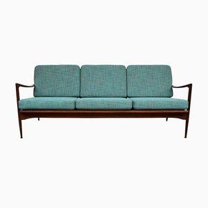 Vintage Danish Afromosia Teak 3-Seating Couch by Ib Kofod-Larsen