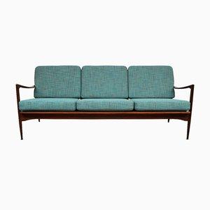 Dänisches Vintage Afromosia 3-Sitzer Sofa aus Teak von Ib Kofod-Larsen