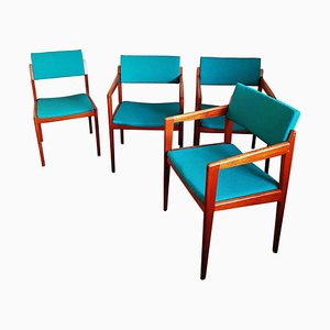 German Teak Dining Chair Set by Thonet, 1960s, Set of 4