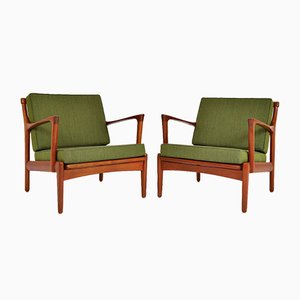 Scandinavian Teak Lounge Chairs by Bertil Fridhagen for Bröderna Andersson, 1950s, Set of 2