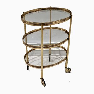 Vintage Gilt Serving Trolley by Maison Jansen