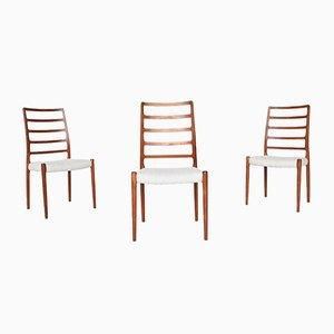 Danish Teak Model 82 Dining Chairs by Niels Otto Møller for J.L. Møllers Møbelfabrik, 1960s, Set of 3