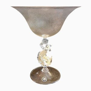 Vintage Fruit Bowl or Glass Cup with a Figurative Base, 1960s