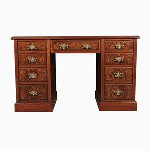 Spät-Viktorianischer Schreibtisch aus Nusswurzelholz