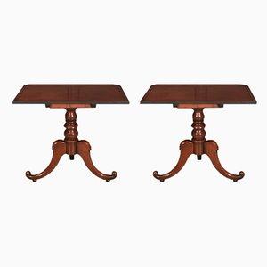 Regency Mahogany Console Tables, Set of 2