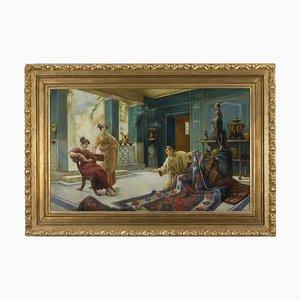 Angelo Granati, Venditore Di Tappeti a Pompei, Öl auf Leinwand