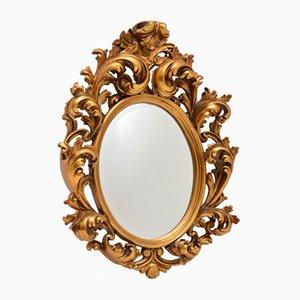 Antiker Französischer Spiegel im Rokoko Stil mit Vergoldetem Holzrahmen