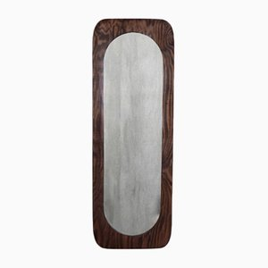 Large Scandinavian Wooden Wall Mirror, 1950s