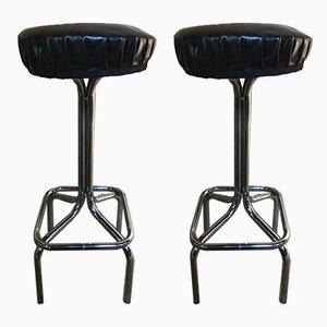Mid-Century Modern Chrome Barstools, 1950s, Set of 2
