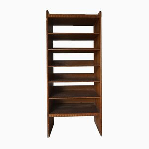 Patinated Pine Bookcase by Martin Nyrop for Rud Rasmussen, 1900s