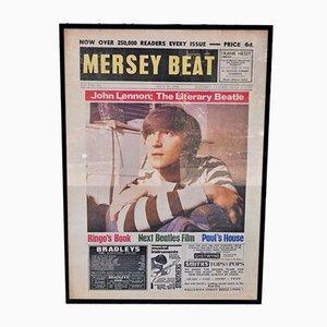 Affiche Vintage Beatles Merseybeat Représentant John Lennon