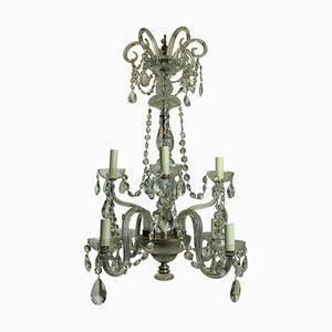 Antiker Französischer Kronleuchter aus Geschliffenem Glas