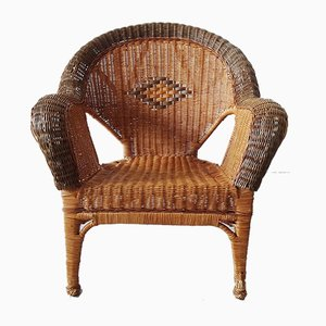 Mid-Century Stuhl aus Rattan