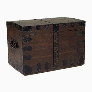 Vintage Metal Bound Chest