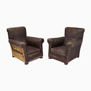 Vintage Oversized Armchairs, Set of 2